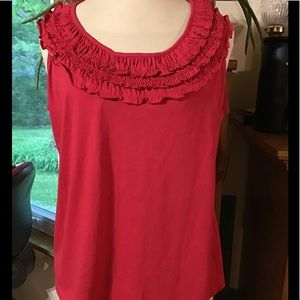 Women's Allison Whitmore's size large red tank top
